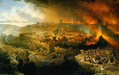 The Destruction of Jerusalem lithograph from a painting by David Robert Jewish History, Jewish Art, Religious Art, Yeshiva University, Long March, Book Of Daniel, Temple In Jerusalem, Museums In Nyc, Strange Events