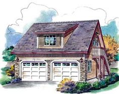 Find your dream bungalow style house plan such as Plan which is a 459 sq ft, 1 bed, 1 bath home with 2 garage stalls from Monster House Plans. Garage Apartment Plans, Garage Apartments, Garage House, Car Garage, Garage Studio, Garage Workshop, Dream Garage, Carriage House Plans, Garage Floor Plans