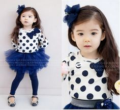 Toddler Girls Kids Clothes 2 Piece Set Dress Top & Leggings SKirt S0-5Y Outfits   eBay
