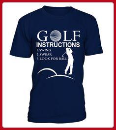 Golf Instructions T Shirt best sport team player gift - Golf shirts (*Partner-Link)