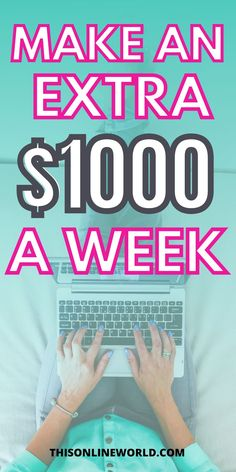 If you want to increase your income, this list of jobs that pay $1,000 a week is for you. These are either gig jobs or full-time jobs that have a high hourly pay to let you make $1,000 a week or more. Make Money Today, Earn Money From Home, Make More Money, Make Money Blogging, Extra Money, Make Money Online, Second Income Ideas, Earn Cash Online, Online Jobs From Home