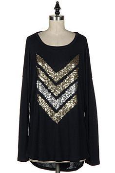 Sparkly Chevron Tunic – Melissa Couture