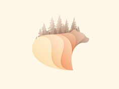 This is beautiful graphic design. Love the tree/bear combo