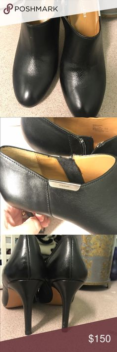 Coach booties Coach boots whore them a couple of times but they are in good couple a little scrap on the heel. Coach Shoes Ankle Boots & Booties