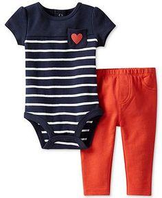 the CoOl Kids - Carters Baby Set, Baby Girls 2-Piece Bodysuit and Pants - Kids Baby Girl (0-24 months) - Macys #thatseasier #cool #kids