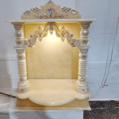 Temple Design For Home, Home Temple, Marble Interior, Luxury Interior, Mandir Design, Marble Carving, Marble Furniture, Pooja Room Door Design, Onyx Marble