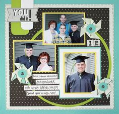 Scrapbook layout graduation