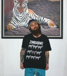 Zimbabwe Zebra Shirt. #zimbabwe #zebra #etsy #vintage #90s