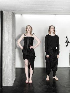 unisex fashion Eco Friendly Fashion, Unisex Fashion, Black Fabric, That Look, Unique, Collection, Dresses, Style, Vestidos