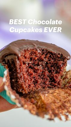 Best Dessert Recipes, Cupcake Recipes, Fun Desserts, Baking Recipes, Best Chocolate Cupcakes, Yummy Cupcakes, Chocolate Desserts, Cup Cakes, Cupcake Cakes