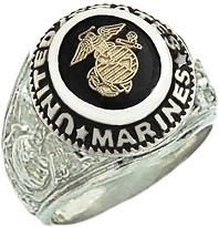 Mens Sterling Silver United States Marines Military Solid Back Ring. Sterling Silver Wedding Rings, Wedding Rings Solitaire, Mens Silver Rings, Silver Man, Mens Emerald Rings, Rings For Men, White Gold, Ring Ring, Marines