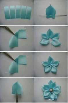 Ribbon Embroidery Flowers by Hand - Embroidery Patterns Ribbon embr. - Ribbon Embroidery Flowers by Hand – Embroidery Patterns Ribbon embroidery, usually d - Ribbon Art, Ribbon Crafts, Flower Crafts, Fabric Ribbon, Diy Crafts, Simple Embroidery Designs, Hand Embroidery Patterns, Embroidery Supplies, Embroidery Stitches