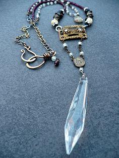 Chandelier Crystal Necklace 3. | bijoux | Pinterest | Crystal ...