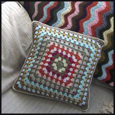 Ravelry: kec19's Granny Square Pillow; <3 colors