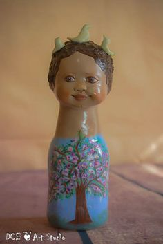 OOAK Art Sculpture Art Doll Bust Earth Song by DCB by DCBARTSTUDIO