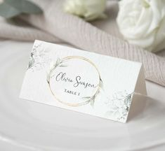 Place card Template, Greenery Wedding Place card Template, Download Escort cards Wedding Place Cards Modern Wedding Seating card Editable Wedding Seating Cards, Wedding Place Cards, Place Card Template, Wedding Places, Table Cards, Wedding Stationary, Greenery, Place Card Holders, Signs