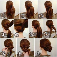 Image may contain: 1 person Beauty Tips For Hair, Beauty Hacks, Hair Beauty, Cute Hairstyles, Wedding Hairstyles, Hairdos, Japanese Hairstyle, Wedding Videos, Bridesmaid Hair