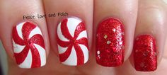 Peace, Love and Polish: Peppermint Swirl Nail Art