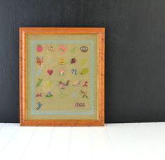 Vintage Alphabet Embroidery Sampler  A to Z  Vintage by KOLORIZE, $75.00