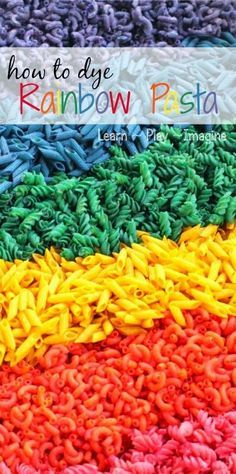 The easiest method for dyeing pasta - no vinegar or alcohol needed to achieve these long lasting, vibrant colors!