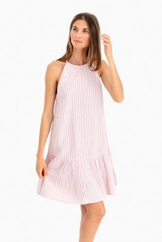 Sleeveless Stripe Tank Dress Preppy Summer Outfits, Dressed To The Nines, Vertical Stripes, Cutaway, Rebecca Taylor, Tank Dress, Summer Looks, Summer Dresses, Cotton