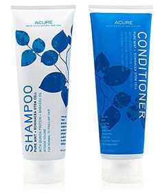 Best natural shampoo.  Acure Organics Pure Mint + Echinacea Stem Cell Hair Care Duo