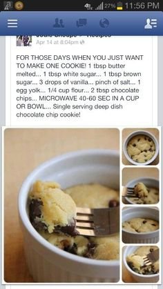 One cup cookie