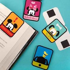 Print out these bookmarks that stay on the page with magnets.   36 DIYs That Will Get The Whole Family Psyched For A Disney Vacation