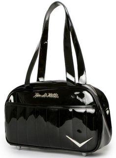 """Lux De Ville """"Cruiser"""" Tote Retro Rockabilly Handbag Vintage Style Purse"""