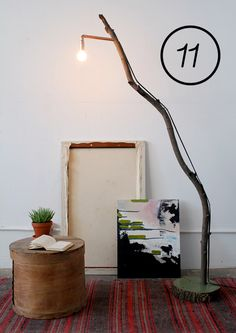 diy tree branch bookshelf | Build a coffee table . Here's a similar coffee table , and another ...