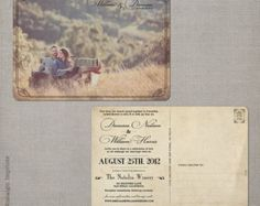 Postcard Wedding Invitations / Wedding guest by NostalgicImprints