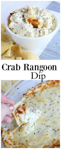 An extra cheesy crab rangoon dip sure to please a crowd. A blend of Parmesan, mozzarella, and cream cheeses. Easy appetizer!