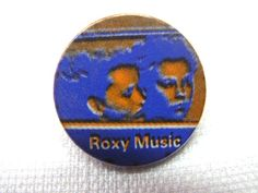 Vintage Early 1980s Roxy Music / Flesh and Blood Album Cover - Pin / Badge / Button by beatbopboom on Etsy