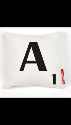 Scrabble Letter A Cushion Cover