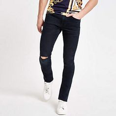 09582f7a1ea Dark blue Sid skinny ripped jeans - Skinny Jeans - Jeans - men