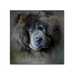 Jai Johnson 'Watching Master Blue Chow Chow' Canvas Art   Overstock.com Shopping - The Best Deals on Gallery Wrapped Canvas