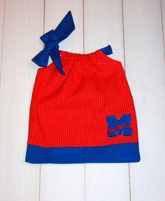 Ole Miss pillowcase dress by TwincessBoutique - cute!