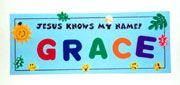 sunday school Jesus Knows My Name bible Craft