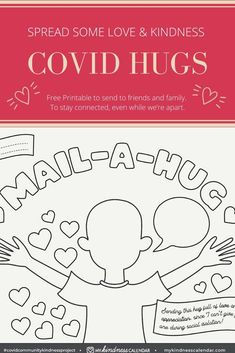 Great activity for kids to do during at home learning or home schooling. Let your kids express theie creativity and ease their anxiety and fears by connecting with friends and family through this free printable craft. Send a love note in the mail. Nursing Home Activities, Friend Activities, Kindness Activities, Church Activities, Mindfulness For Kids, Mindfulness Activities, Lessons For Kids, Bible Lessons, Math Lessons