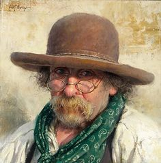 Painting by Scott Tallman Powers American.