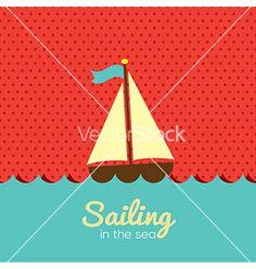 Sailboat vector by siri-korn on VectorStock®