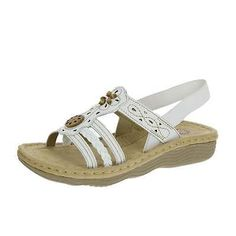 Earth Spirit Womens Plymouth Sandals White Various Sizes