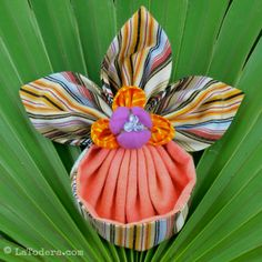Fabric Flower Slipper Orchid PDF Pattern Jack in the Pulpit