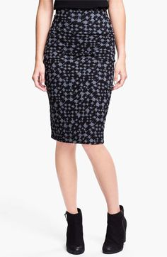 Lily White Mid-Length Pencil Skirt (Juniors) available at #Nordstrom