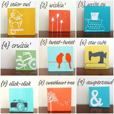 I want one of each...or to create a bunch from this wish theme board. #DIY #miniart