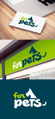 Diseño de logotipo para Forpets, una tienda física y online de productos y alimentación para animales, principalmente dirigida a perros y gatos.  Nuestro cliente no tenía una idea predeterminada así que nos dio total libertad para buscar su nueva imagen, solamente nos dijo que quería algo potente y que no fuera excesivamente infantil.