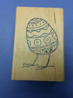 Hatching Easter Egg Chick Rubber Stamp by cookingpinkpanther