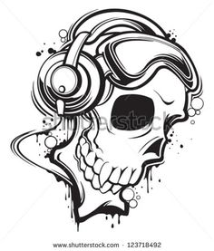 Vector headphone skull Free vector for free download about (3) Free vector in ai, eps, cdr, svg format .