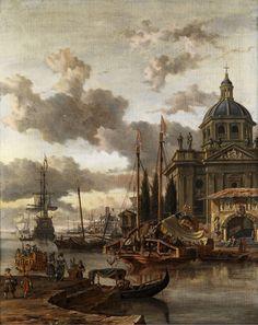 Abraham Storck_A Mediterranean harbour scene_4