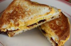 Bacon Egg and cheese grilled cheese sandwich Recipes allindiarecipes